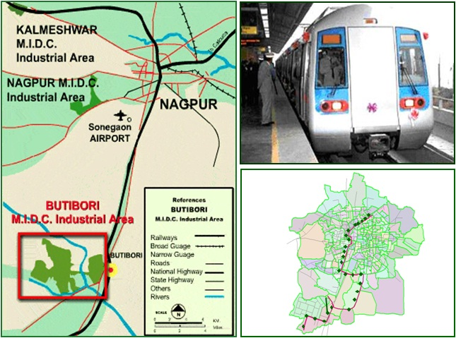 MRTS Connecting Nagpur City with MIHAN and Butibori Industrial Area